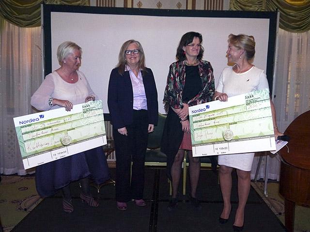 Solveig Melbye, Kathariina Laine, Inger Thune og Gerd Helene Kjos