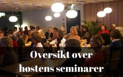 Oversikt over høstens seminarer