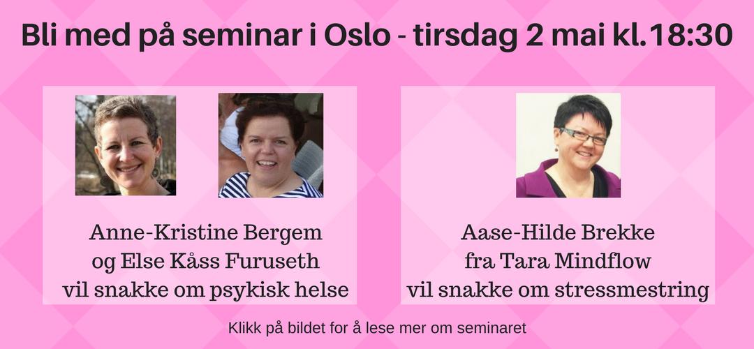 Seminar i Oslo - 2 mai
