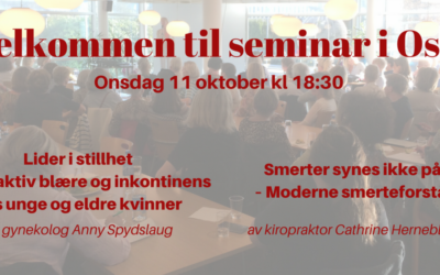 Velkommen til seminar i Oslo Onsdag 11. oktober