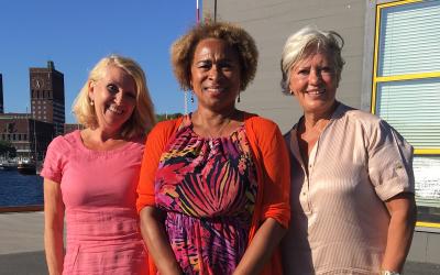 Prof.Gail Huges, kontaktkvinne fra 1,6 klubben i Syd-Afrika har vært i Oslo og forelest på Universitetet.