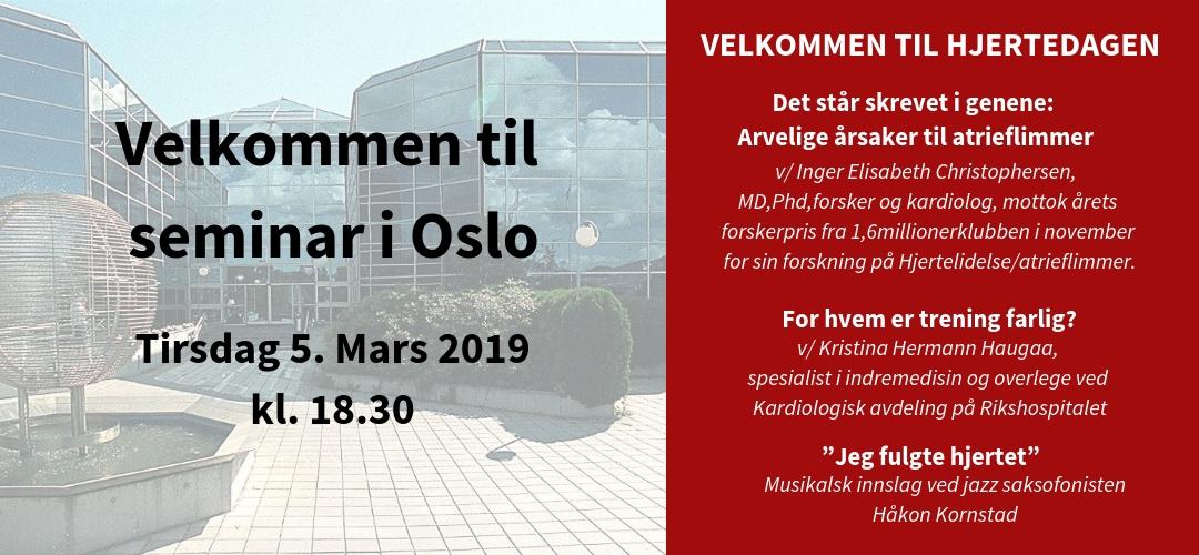 Seminar i Oslo tirsdag 5 mars 2019