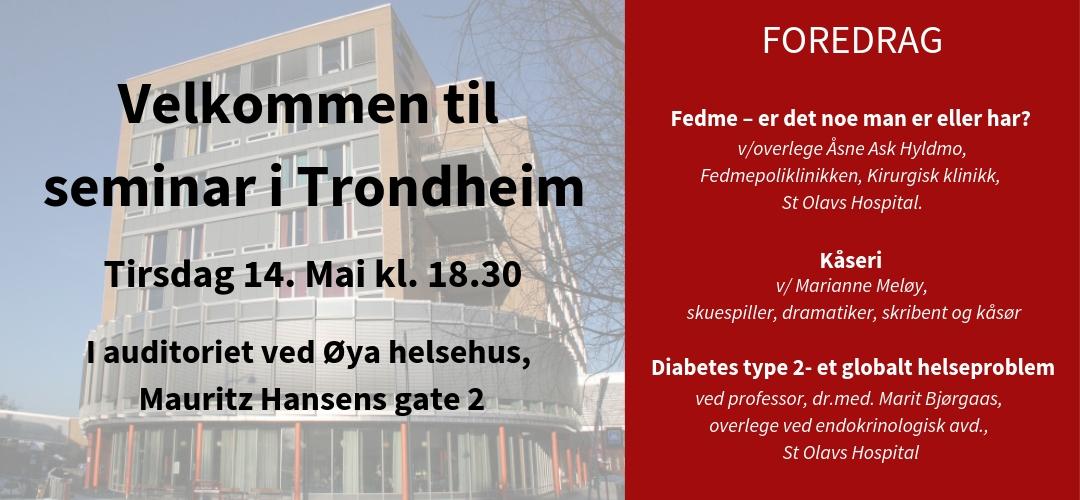 Seminar i Trondheim - Tirsdag 14 mai 2019