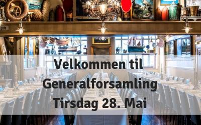 Innkalling til generalforsamling – tirsdag 28 mai