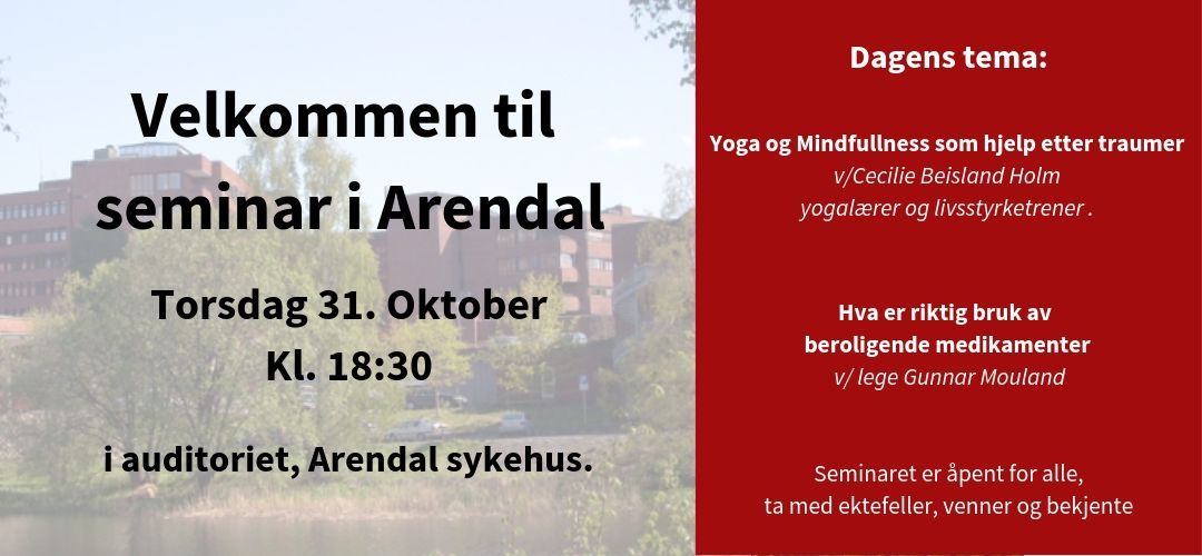 Seminar i Arendal torsdag 31 oktober