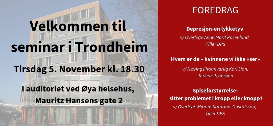Seminar i Trondheim - Tirsdag 5 november